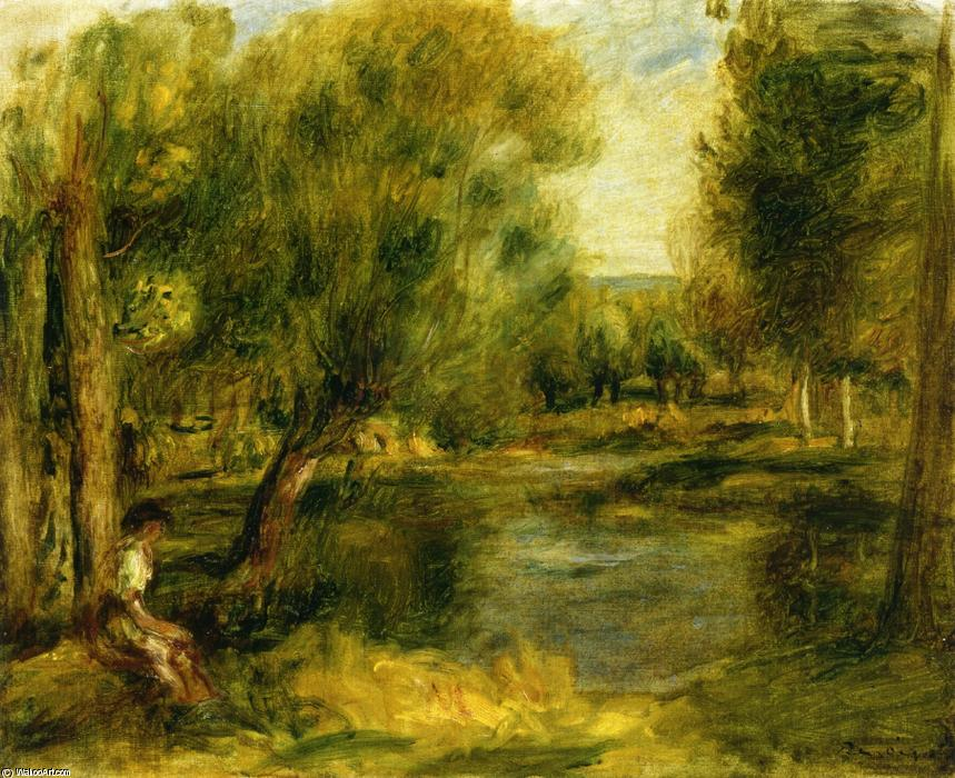 famous painting Banks of a River 2 of Pierre-Auguste Renoir