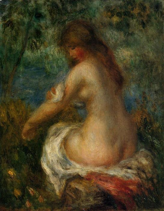famous painting Bather 2 of Pierre-Auguste Renoir