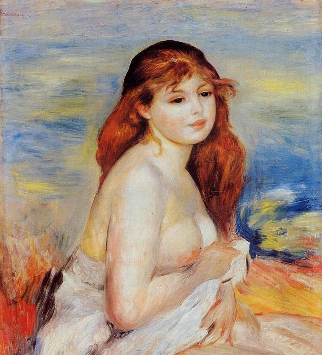 famous painting Bather 3 of Pierre-Auguste Renoir