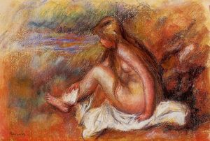 Pierre-Auguste Renoir - Bather Seated by the Sea