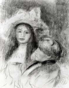 Pierre-Auguste Renoir - Berthe Morisot and her Daughter (study)