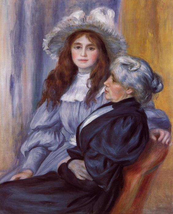 famous painting Berthe Morisot and Her Daughter Julie Manet of Pierre-Auguste Renoir