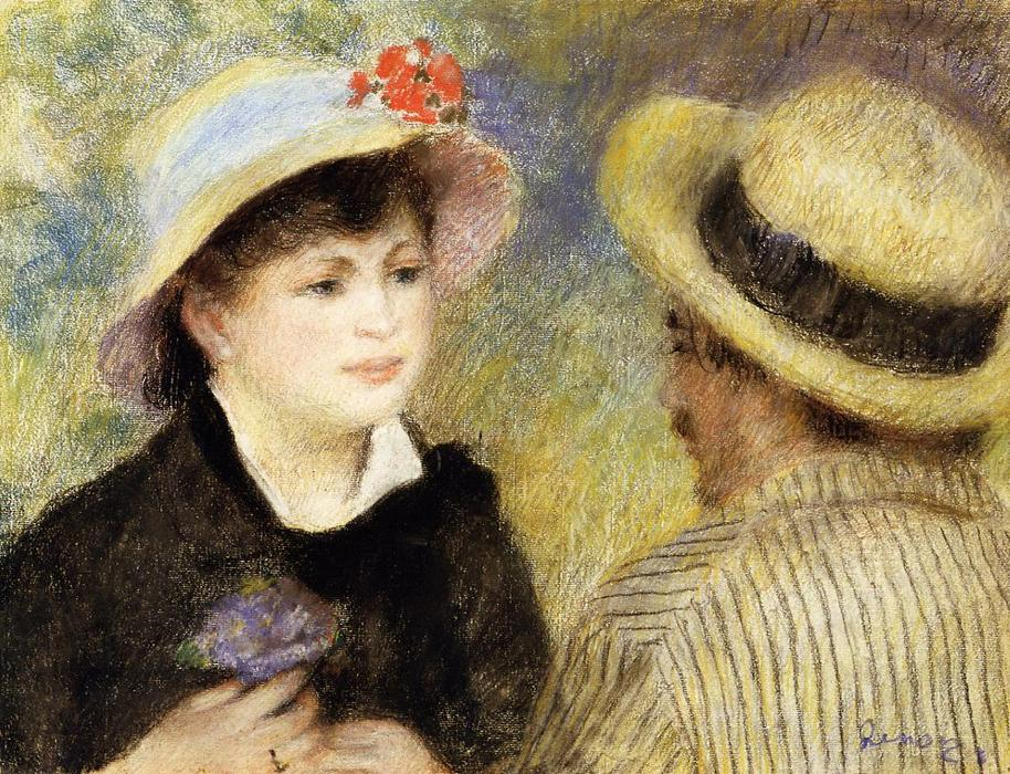 famous painting Boating Couple (aka Aline Charigot and Renoir) of Pierre-Auguste Renoir