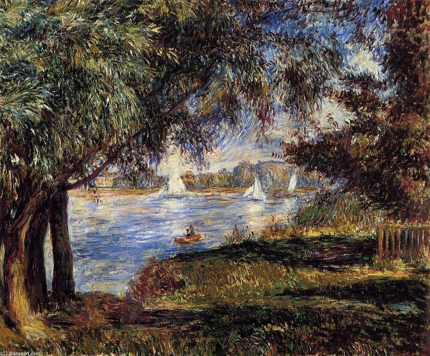famous painting Bougival of Pierre-Auguste Renoir