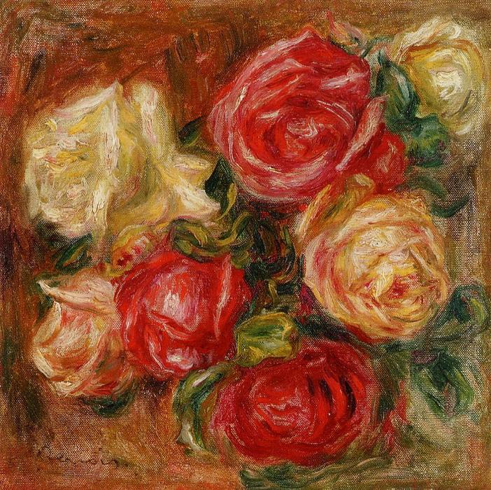 famous painting Bouquet of Flowers 1 of Pierre-Auguste Renoir