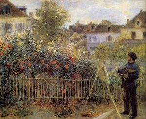 Pierre-Auguste Renoir - Claude Monet Painting in His Garden at Argenteuil