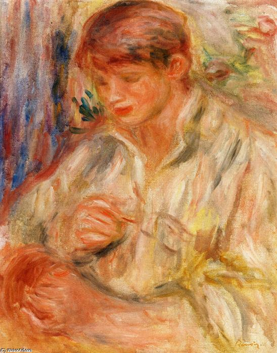 famous painting Claude Renoir Potting of Pierre-Auguste Renoir
