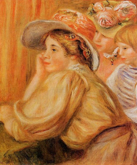 famous painting Coco and Two Servants of Pierre-Auguste Renoir