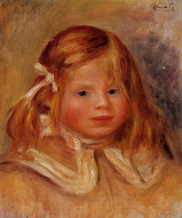 famous painting Coco in a Red Ribbon of Pierre-Auguste Renoir