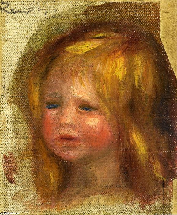 famous painting Coco s Head of Pierre-Auguste Renoir