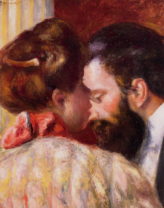 famous painting Confidence of Pierre-Auguste Renoir