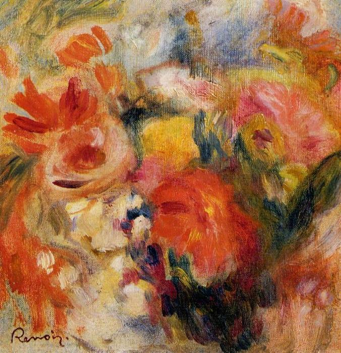 famous painting Flower Study of Pierre-Auguste Renoir