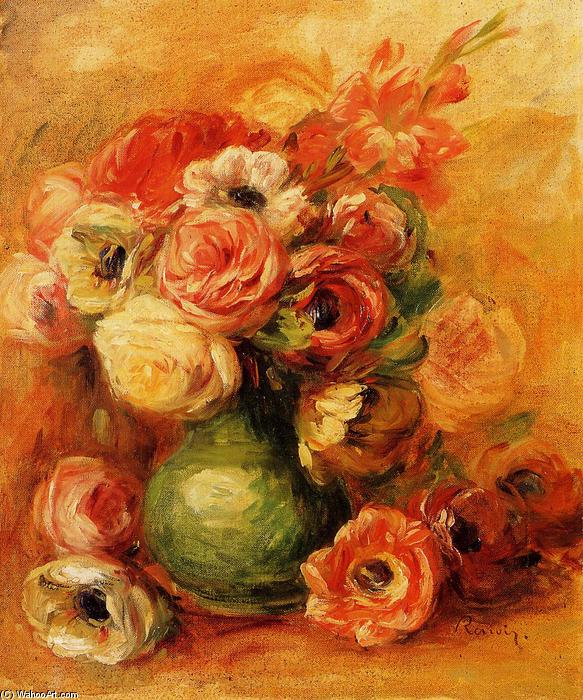 famous painting Flowers 1 of Pierre-Auguste Renoir