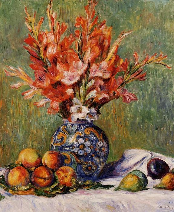 famous painting Flowers and Fruit of Pierre-Auguste Renoir