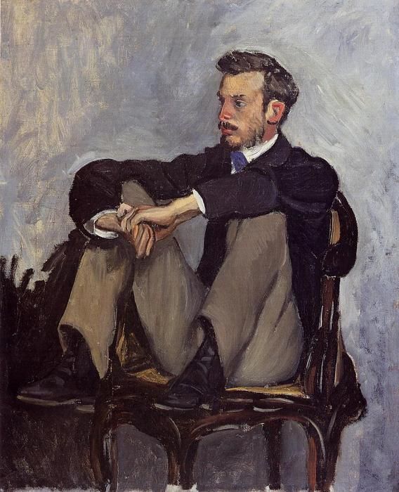 famous painting Frederic Bazille of Pierre-Auguste Renoir