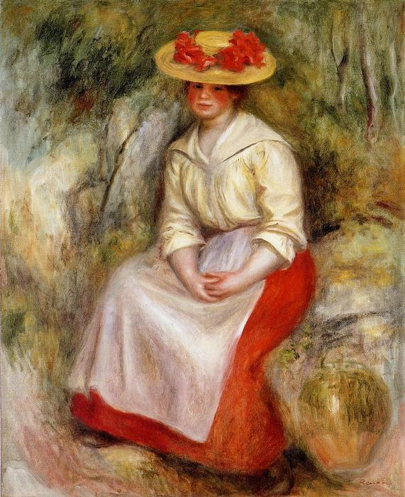 famous painting Gabrielle in a Straw Hat of Pierre-Auguste Renoir