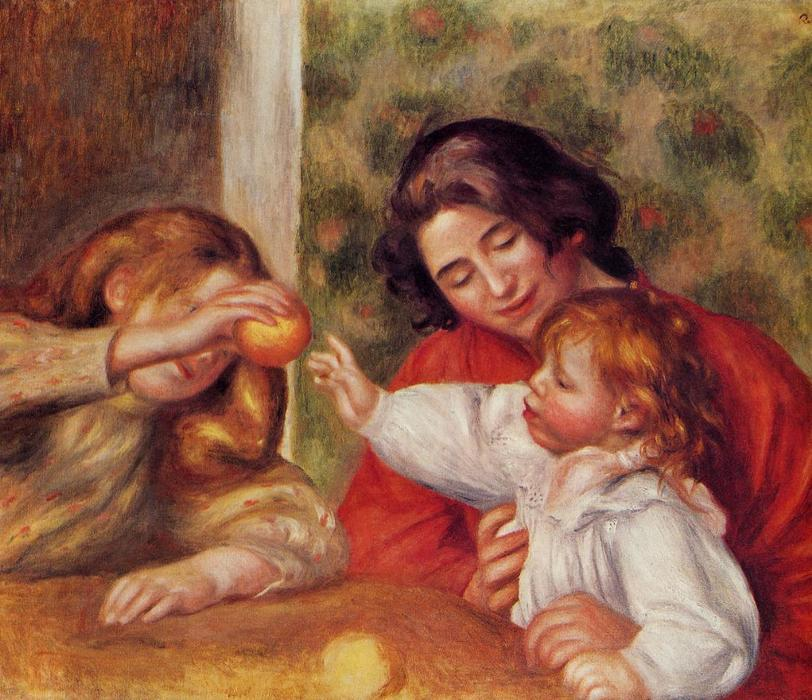 famous painting Gabrielle, Jean and a Little Girl of Pierre-Auguste Renoir