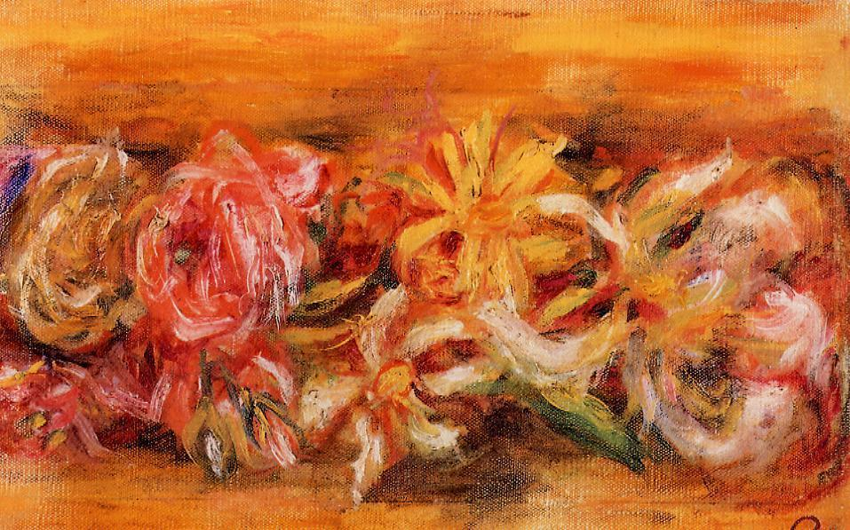 famous painting Garland of Flowers of Pierre-Auguste Renoir