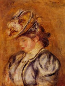 Pierre-Auguste Renoir - Girl in a Flowery Hat