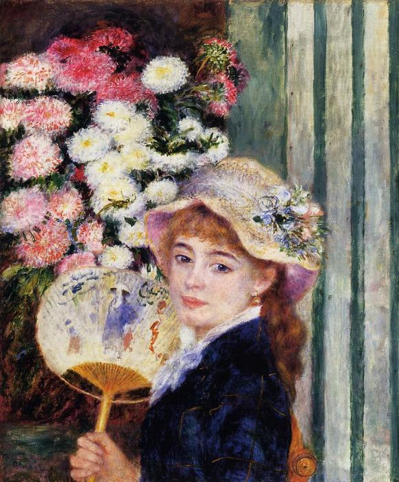 famous painting Girl with Fan of Pierre-Auguste Renoir