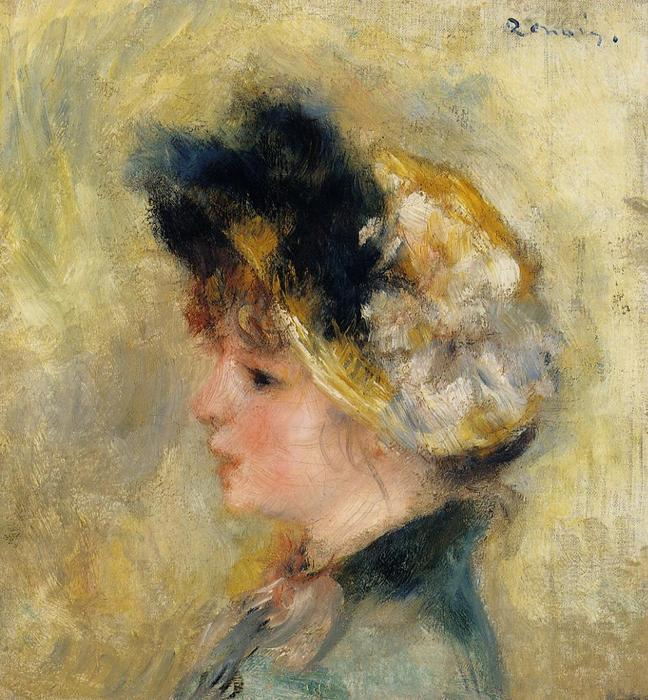 famous painting Head of a Young Girl 1 of Pierre-Auguste Renoir