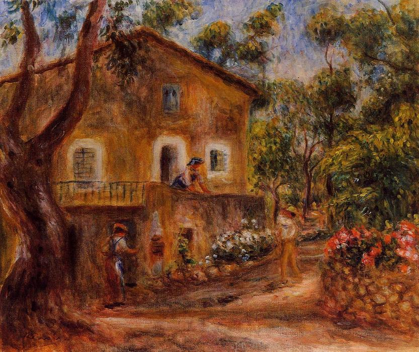 famous painting House in Collett at Cagnes of Pierre-Auguste Renoir