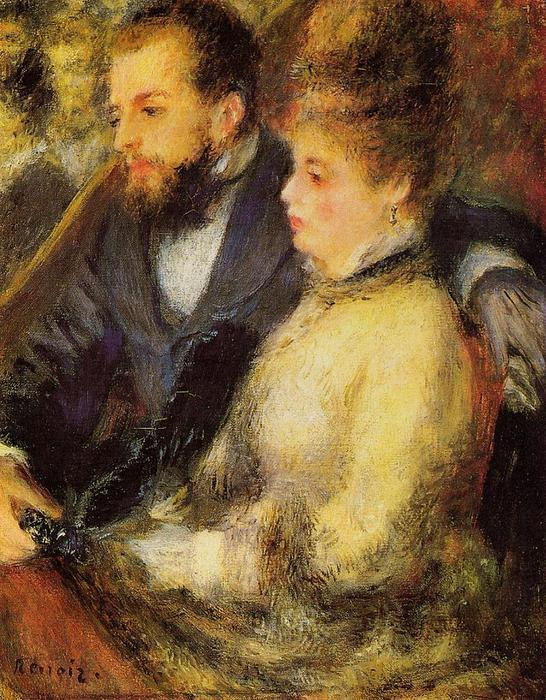 famous painting In the Loge of Pierre-Auguste Renoir