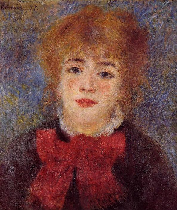 famous painting Jeanne Samary of Pierre-Auguste Renoir