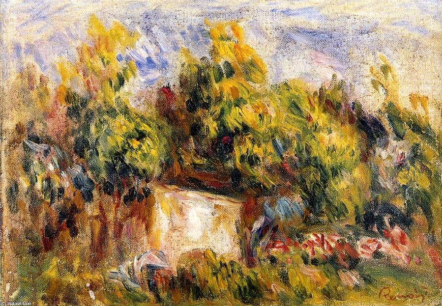 famous painting Landscape with Cabin of Pierre-Auguste Renoir