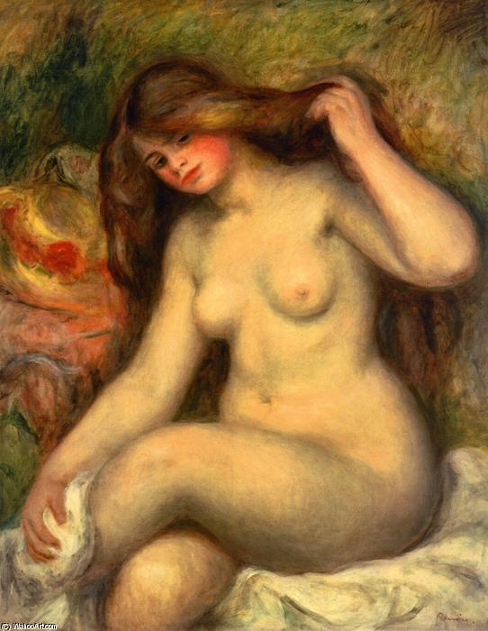 famous painting Large Bather with Crossed Legs of Pierre-Auguste Renoir