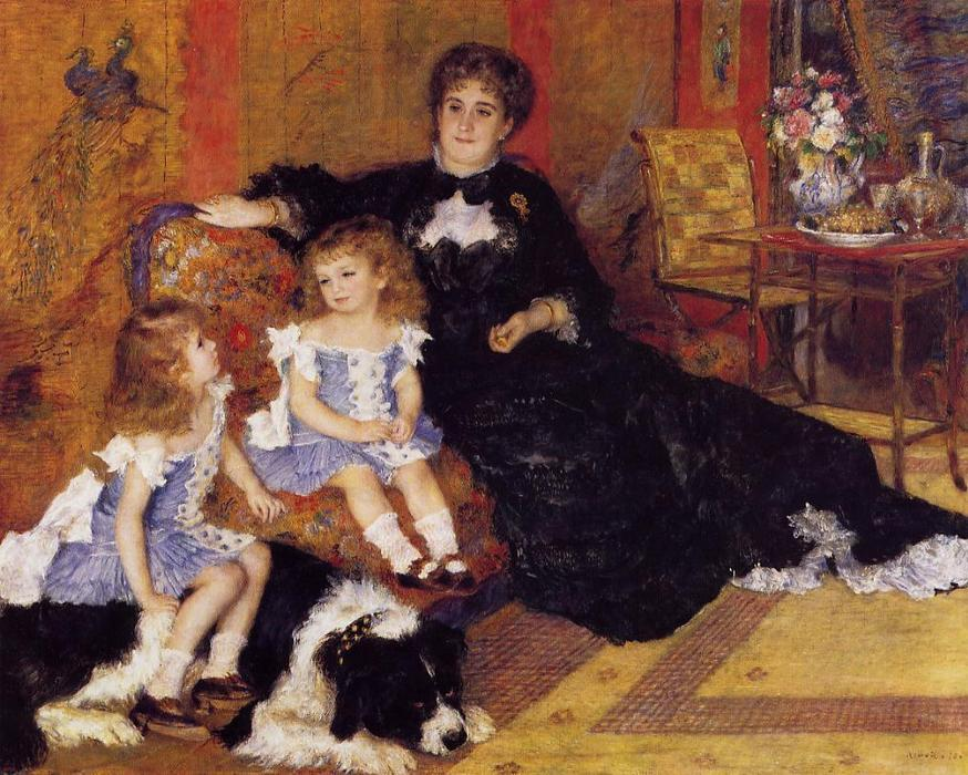 Buy Museum Art Reproductions Impressionism | Madame Georges Charpentier and her Children by Pierre-Auguste Renoir | TopImpressionists.com