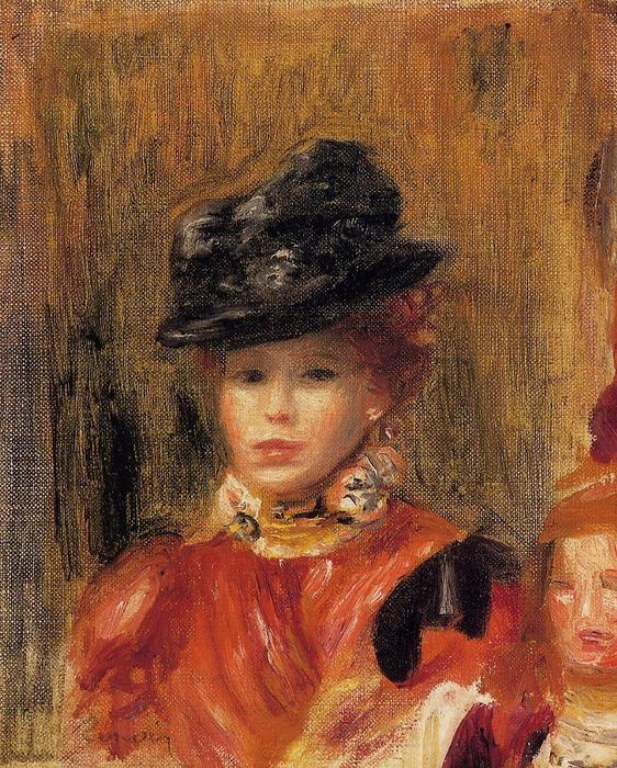 famous painting Madame Le Brun and Her Daughter of Pierre-Auguste Renoir
