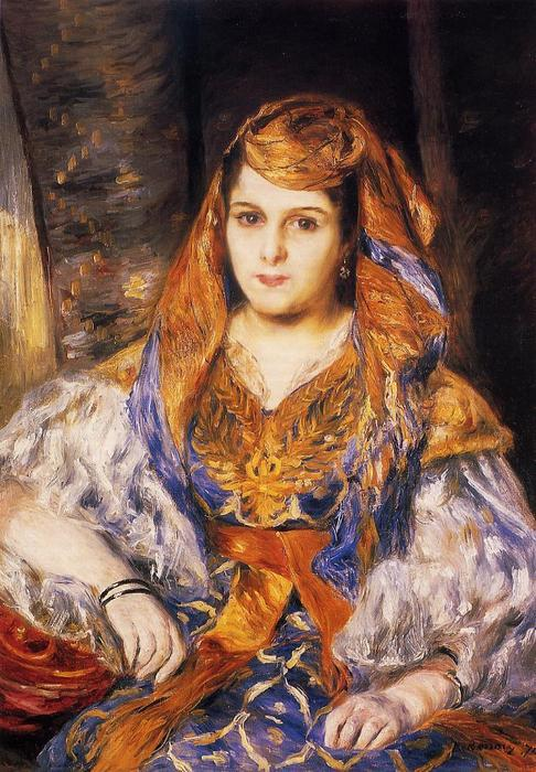famous painting Madame Stora in Algerian Dress of Pierre-Auguste Renoir