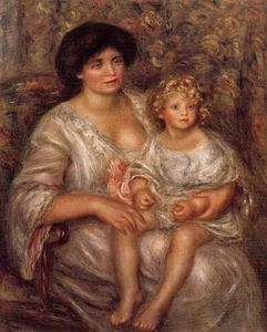 Pierre-Auguste Renoir - Madame Thurneyssan and Her Daughter