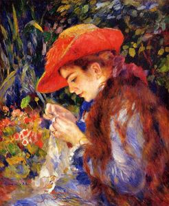 Pierre-Auguste Renoir - Mademoiselle Marie-Therese Durand-Ruel Sewing
