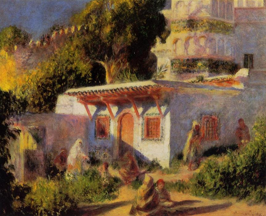 famous painting Mosque in Algiers of Pierre-Auguste Renoir