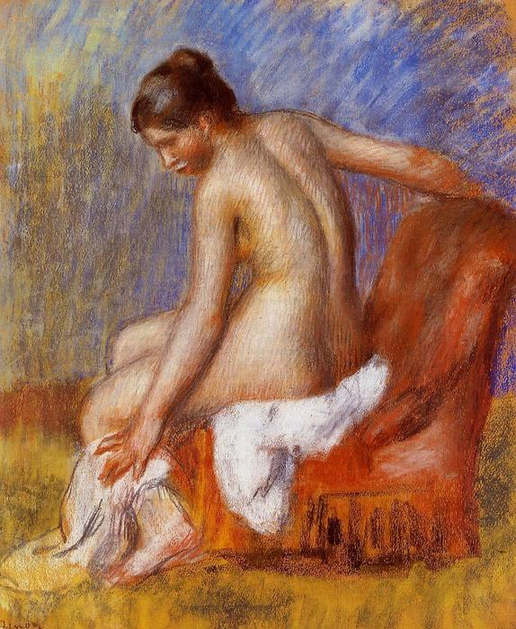 famous painting Nude in an Armchair of Pierre-Auguste Renoir