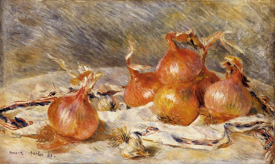 famous painting Onions of Pierre-Auguste Renoir