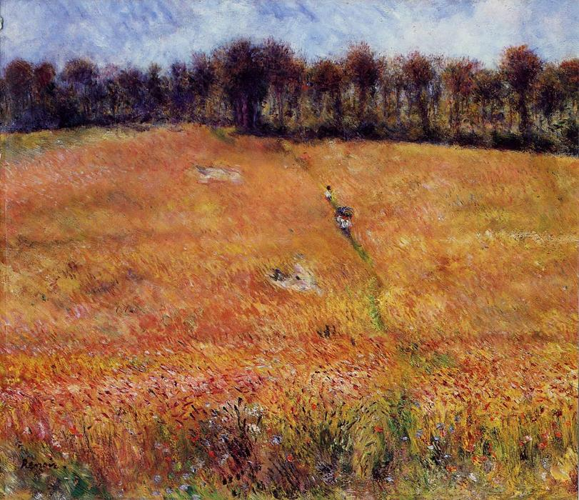 famous painting Path through the High Grass of Pierre-Auguste Renoir