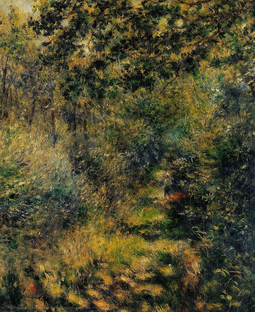 famous painting Path through the Woods of Pierre-Auguste Renoir