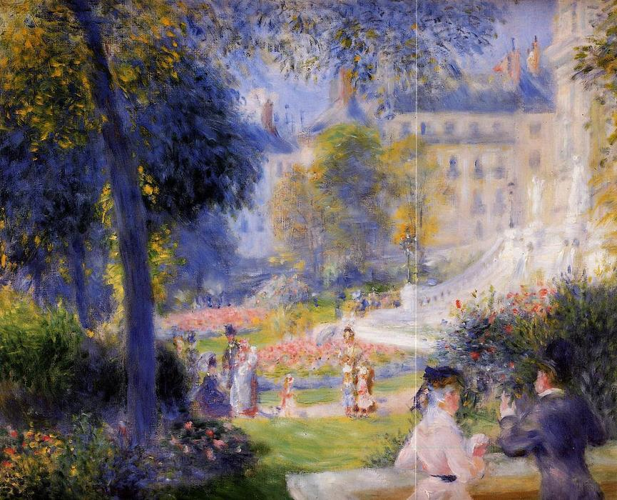 famous painting Place de la Trinite of Pierre-Auguste Renoir