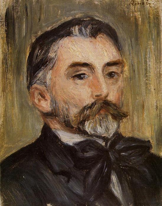 famous painting Portrait of Stephane Mallarme of Pierre-Auguste Renoir