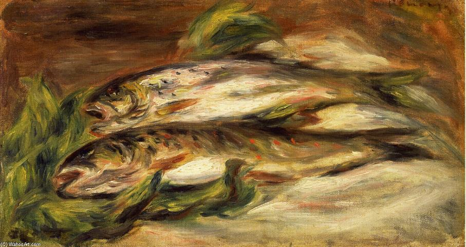 famous painting Rainbow Trout of Pierre-Auguste Renoir
