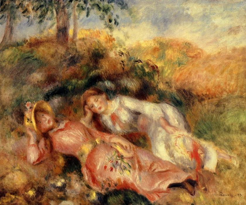 famous painting Reclining Women of Pierre-Auguste Renoir