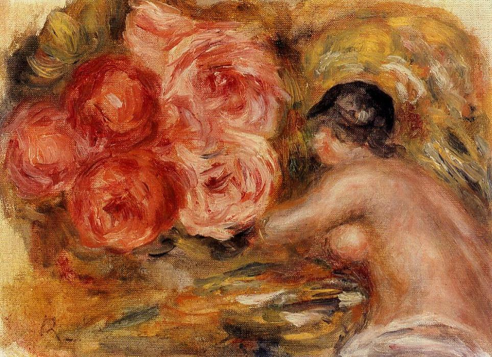 famous painting Roses and Study of Gabrielle of Pierre-Auguste Renoir