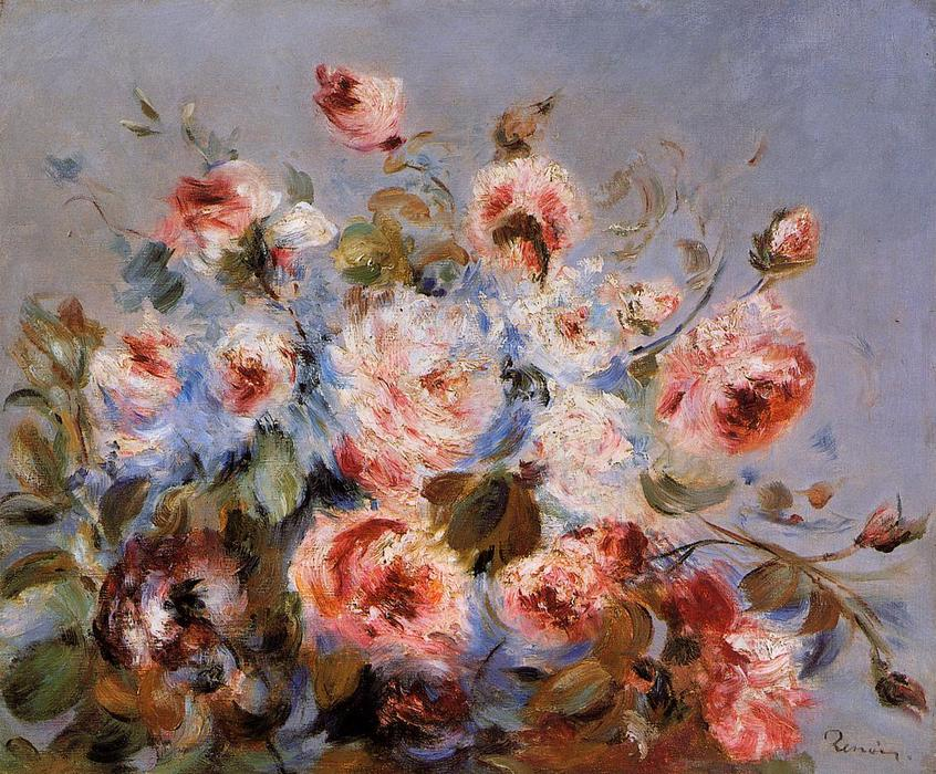 famous painting Roses from Wargemont of Pierre-Auguste Renoir