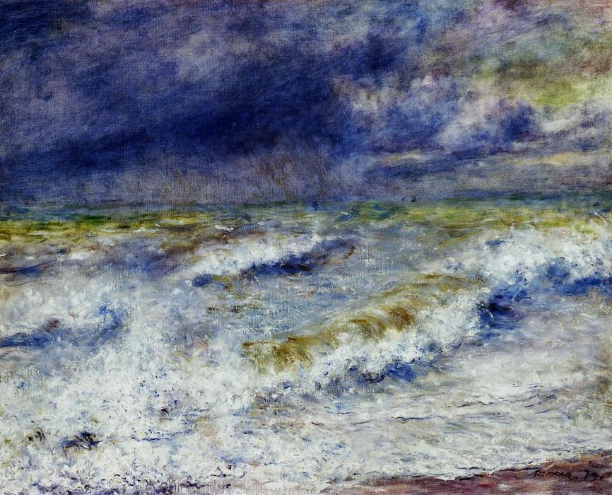 famous painting Seascape of Pierre-Auguste Renoir