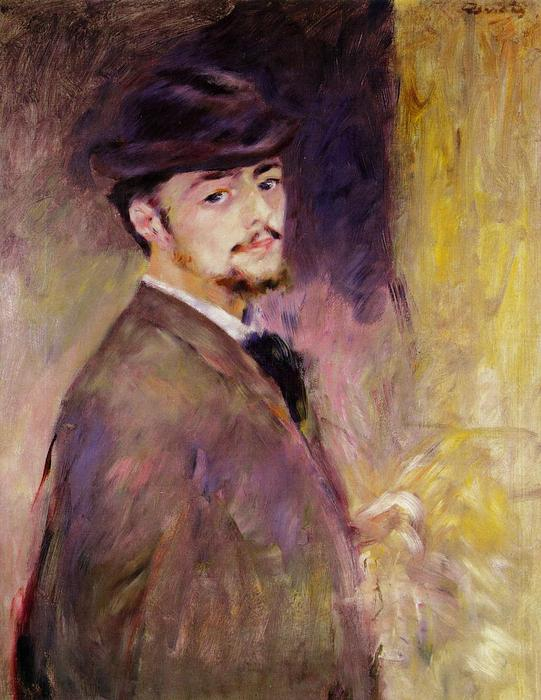 famous painting Self-Portrait at the Age of Thirty Five of Pierre-Auguste Renoir