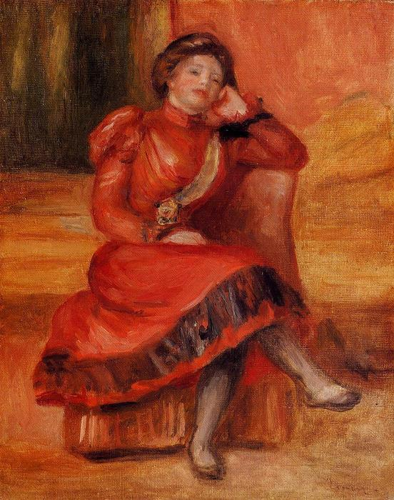 famous painting Spanish Dancer in a Red Dress of Pierre-Auguste Renoir