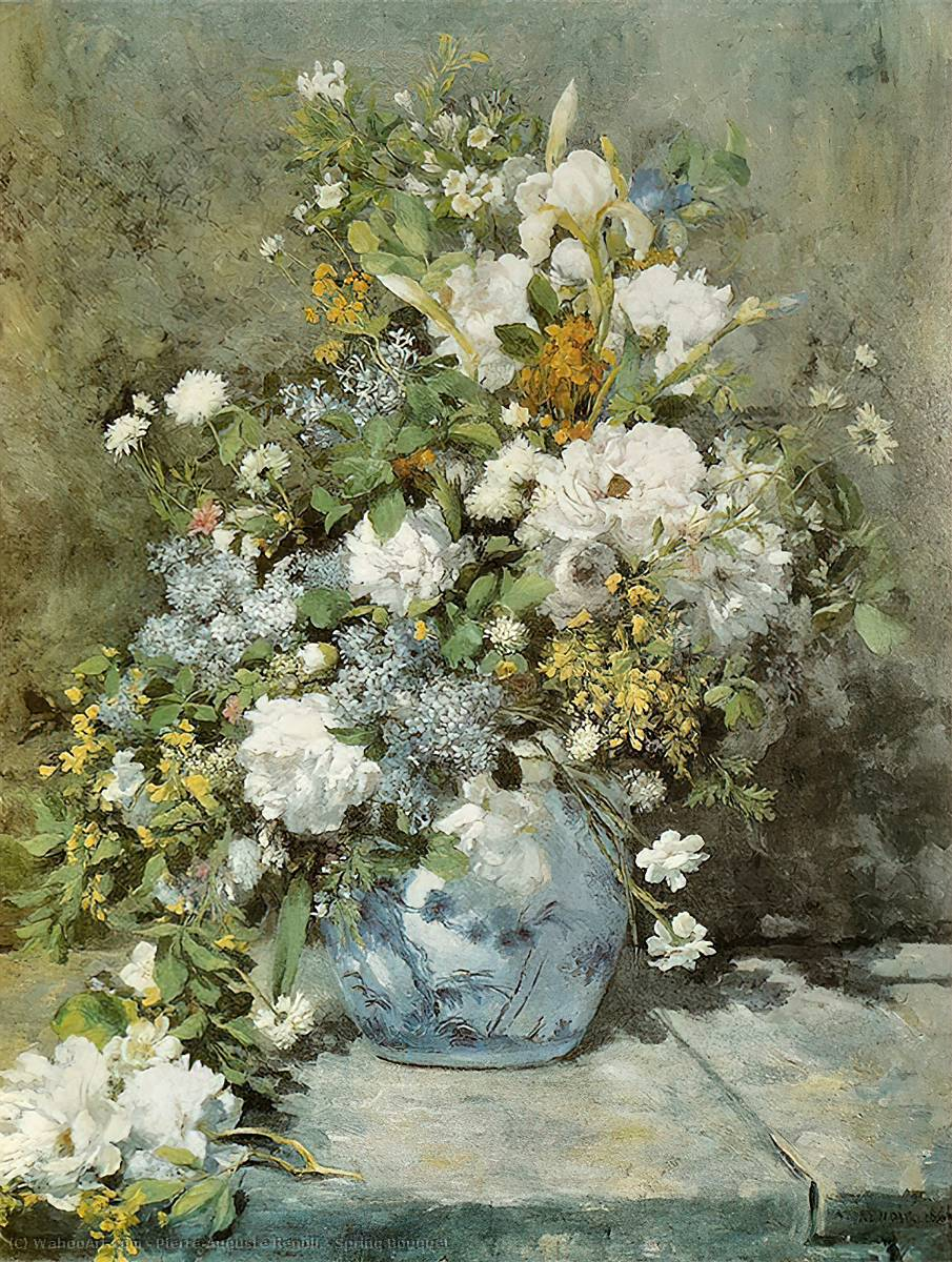 famous painting Spring Bouquet of Pierre-Auguste Renoir